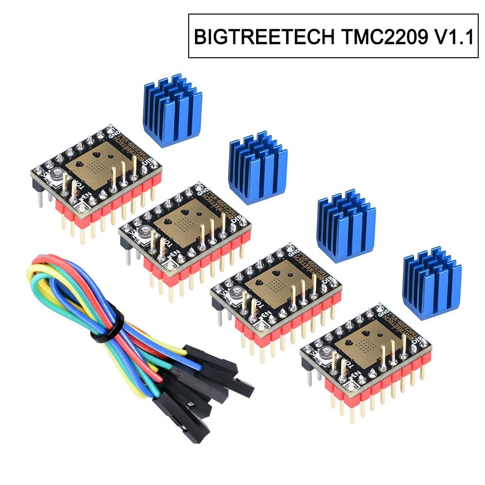Presale BIGTREETECH TMC2209 V1.1 Драйвер шагового двигателя TMC2208 UART драйвер 2.8A 3d Запчасти для принтера VS TMC2130 для SKR V1.3 mini E3