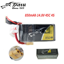 Tattu LiPo Battery 850mAh 14.8V 45C 4S Lipo Battery Pack with XT30 plug for RC Quadcopter tcb rc drone lipo battery 4s 14 8v 2200mah 25c for rc airplane car helicopter akku 4s batteria cell free shipping