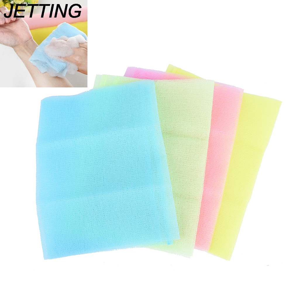 Hot 1pcs Nylon Japanese Exfoliating Skin Bath Shower Wash Cloth Towel Back Scrub Body Cleaning Washing Sponges & Scrubber