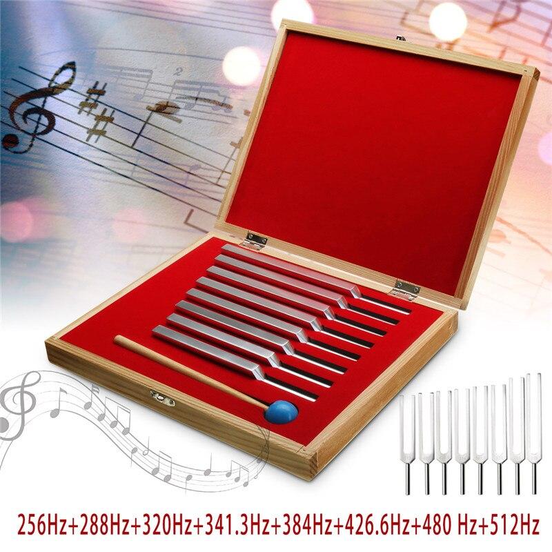 Aufstrebend 8 Teile/satz Aluminium Medizinische Stimmgabel Heilung Sound Vibration Therapie 256hz + 288hz + 320hz + 341 Hz + 384hz + 426hz + 480hz + 512hz üBereinstimmung In Farbe