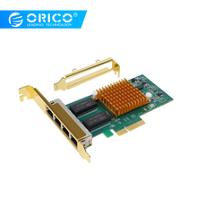 ORICO 4 Port PCI-E to RJ45 PCI Express Expansion Card High Speed PCI-e PCIe For Desktop Computer Components win 10 Add On Cards