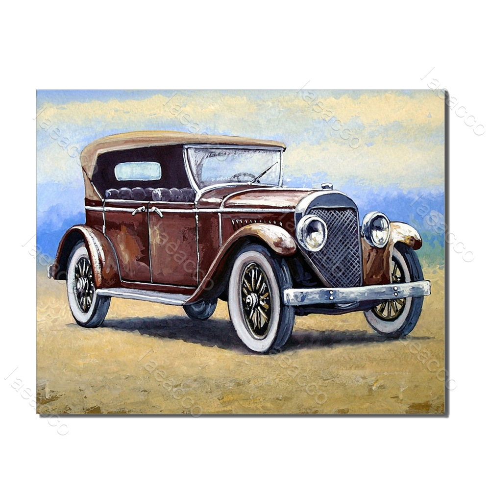 Laeacco Abstract Car Modern Wall Art Vintage Posters and Prints Nordic Canvas Painting Living Room Bedroom Home Decor in Painting Calligraphy from Home Garden