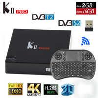 Kii pro Android Tv Box 4 k Android 7.1.2 2 gb + 16 gb Amlogic S905D DVB-T2 sintonizador Wifi DVB-T2 S2 HDMI2.0 inteligente Meidia jugador