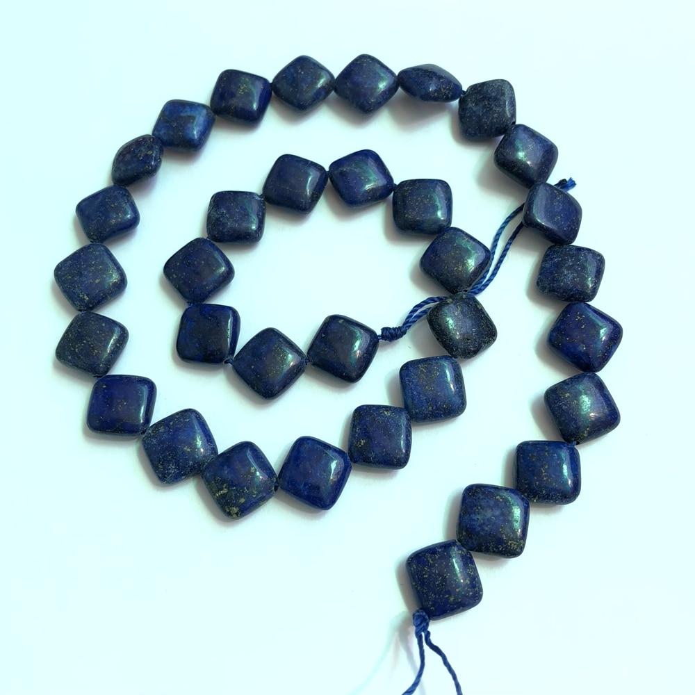 """1 нитка натуральный LAPIS драгоценный камень Бусины 10 мм Squre бусины, свободные каменные бусины для изготовления ювелирных изделий 15,5"""""""