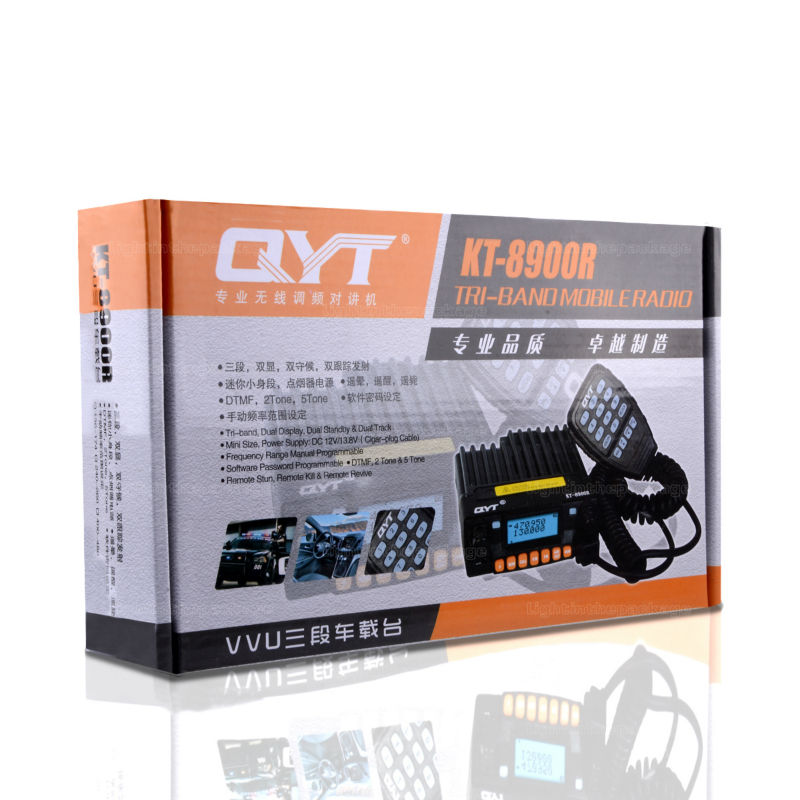 NEW QYT KT-8900R KT8900R Mini Mobile Radio Tri Band 136~174MHz 240-260MHz 400~480MHz with cheap price Free Shipping (3)