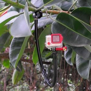Image 5 - Fantaseal ação câmera braçadeira flexível pescoço suporte de montagem para gopro hero 8 7 6 5 4 garmin virb sjcam para xiaomi yi maxila montagem
