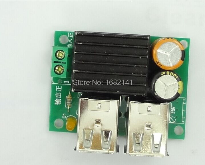 Us 42 5 10pcs Lot 5a Car Step Down Module Dc 9 14v To 5v 4 Usb Power Supply Charger For Mp3 Phonev Such As Car Navigation 4 Usb Safe In Voltage