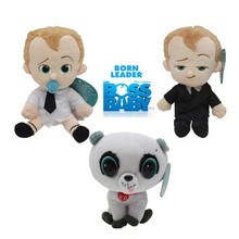 New Kawaii Dreamworks Movie 20 cm The Boss Baby Plush Toy Suit Diaper Baby Pet Soft
