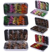 32pcs Fly Fishing Lures Artificial Baits for Bass Salmon Trout Flies Floating
