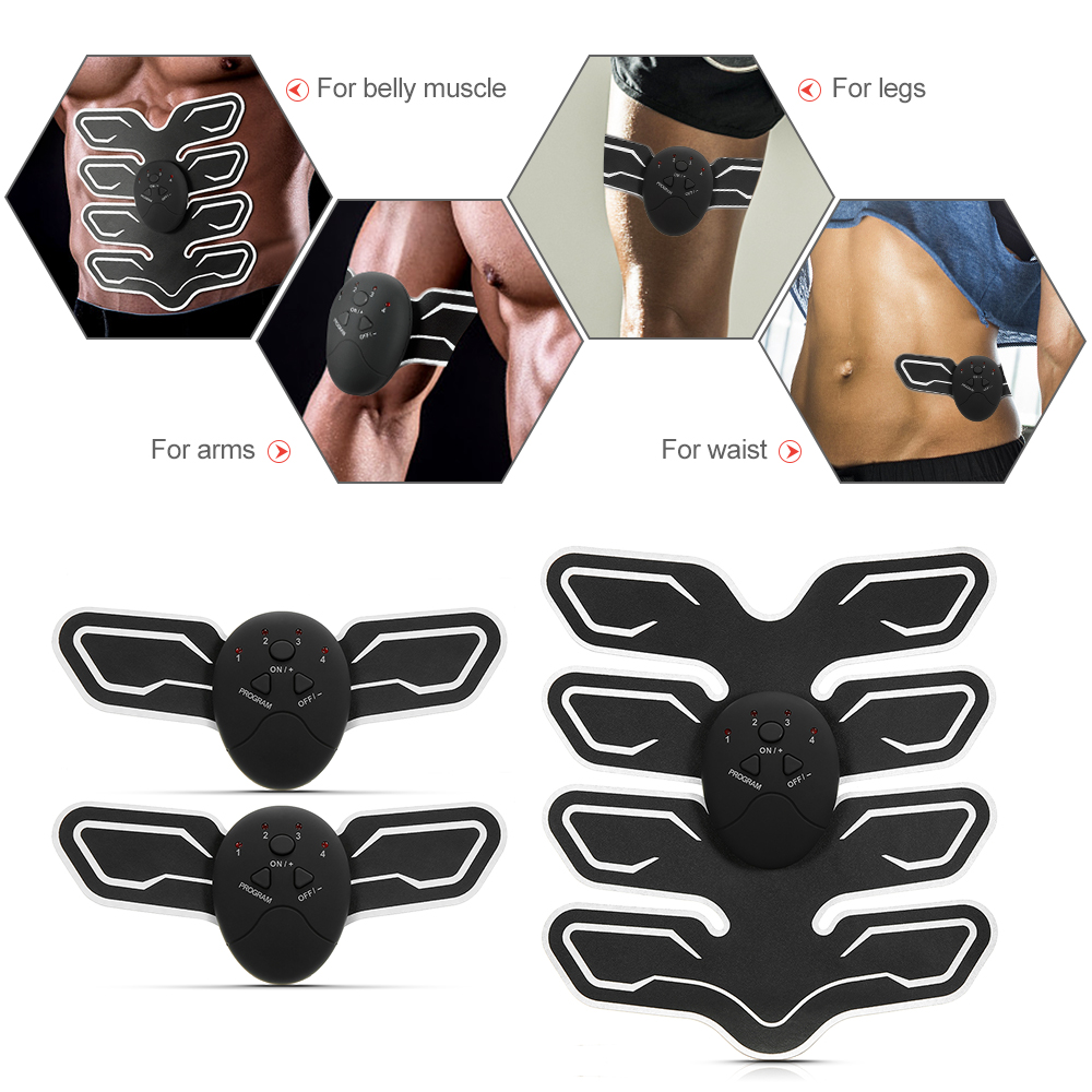Abdominal Muscle Trainer Eight-pack Fitness Equipment Toner Belly Leg Arm Exercise Health Abdominal Fitness Training Toning Gear