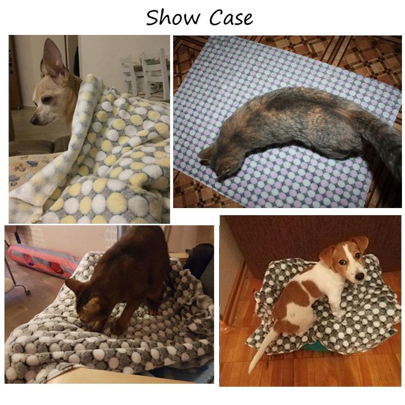 3 tamaño de la manta de perro de lana suave impresión de punto de - Productos animales - foto 6