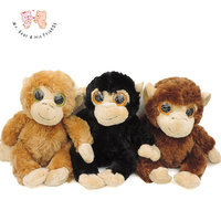 3D Gözler Sevimli Orangutan Peluş Oyuncak Kahverengi Maymunlar Doldurulmuş Hayvanlar Yumuşak Oyuncaklar Bebek Gorilla Yumuşak Dolması Çocuk Çocuk Hediyeler Dekor