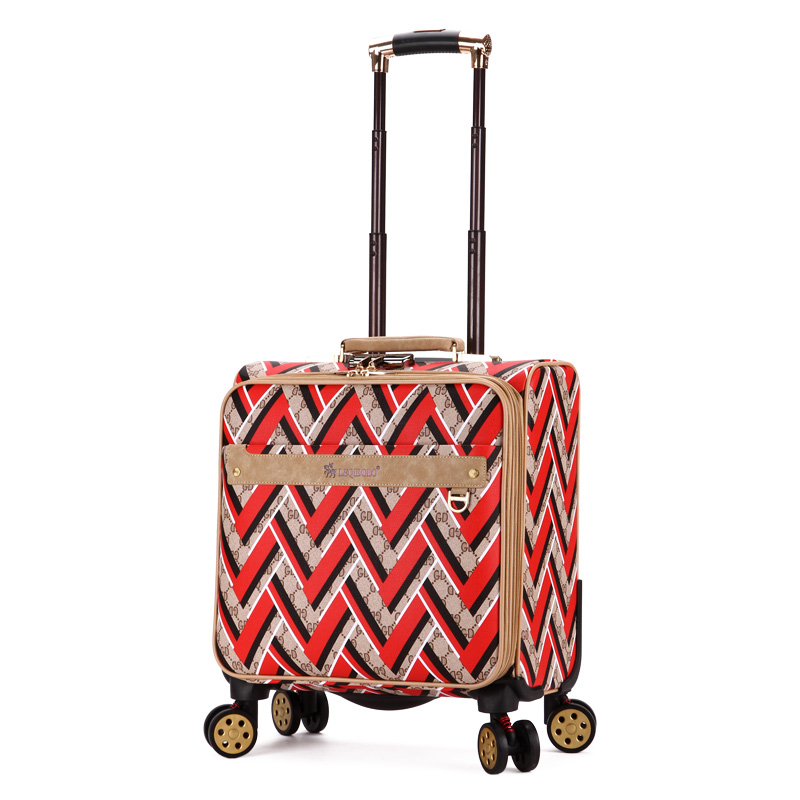 Small suitcase trolley luggage male female 16 commercial universal wheels mini travel luggage y road travel trolley luggage suitcase 100
