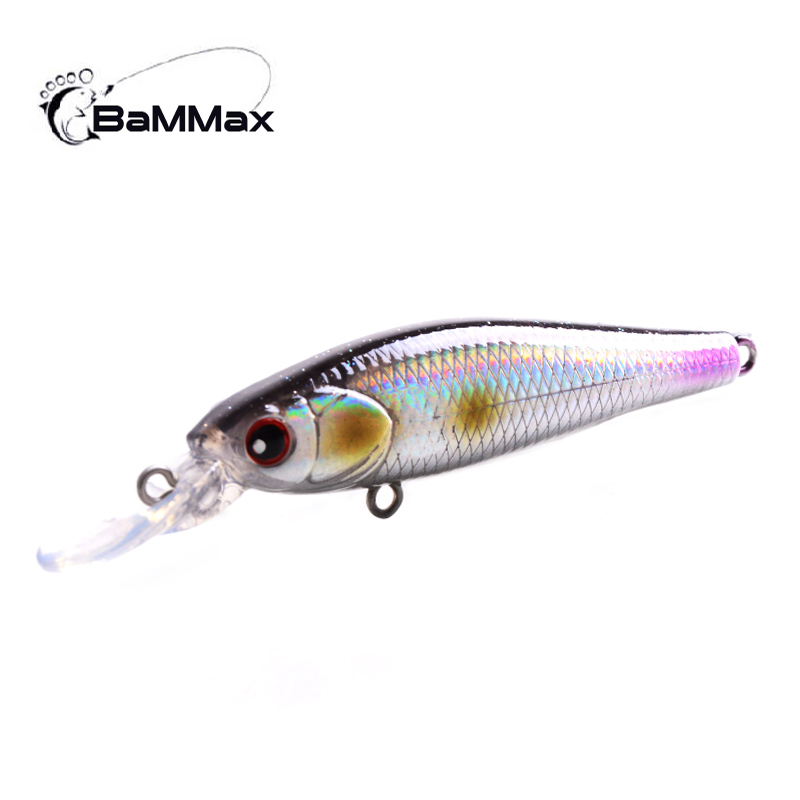 Bammax fishing lures 4g 7cm 1Pcs Minnow Crankbait Lifelike Swimbait Wobbler hard bait Artificial Fishing accessories Tackle Bass new 12pcs 7 5cm 5 6g fishing lure minnow hard bait sea fishing tackle crankbait fishing kit jig wobbler lures bait with hooks
