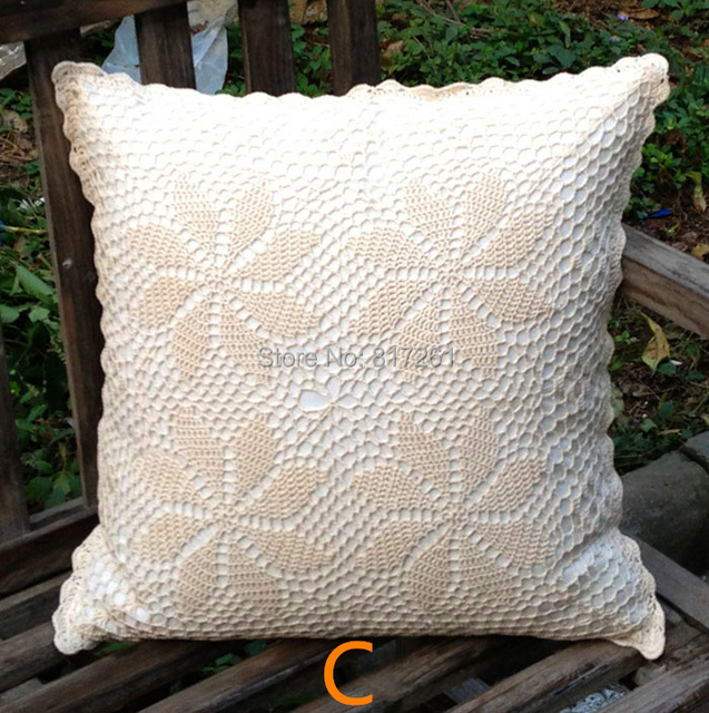 Free shipping 2015 zakka 45 cm natural cotton crochet pillow case free shipping 2015 zakka 45 cm natural cotton crochet pillow case for waist pillow pillow cover dt1010fo