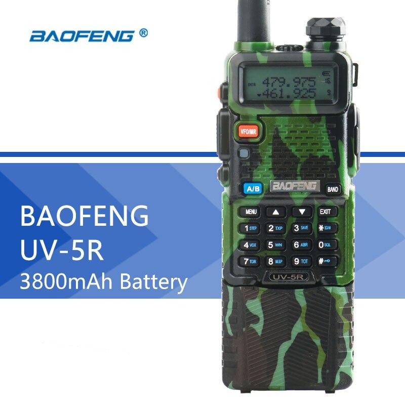 Baofeng UV-5R длинные Батарея рация 3800 мАч двойной бренд УФ 5R CB радио 128CH рация с фонарем Профессиональные FM трансивер