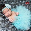 2015 nuevos 17 colores recién nacido Tutu falda con a juego venda de la flor impresionante Newborn apoyo de la foto Pettiskirt Tutu TT001