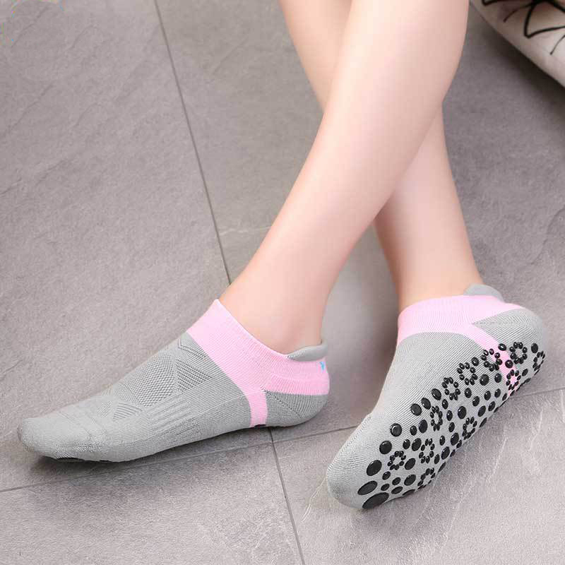 Popfaver Women Anti Slip Cotton Yoga Socks Ladies Sport Pilates Socks Women High Quality Dance Cotton Socks Ballet Socks