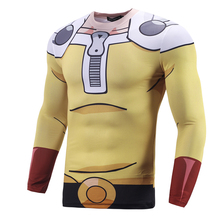 One Punch Men 3D Printed Saitam Ken Long Sleeve T shirt