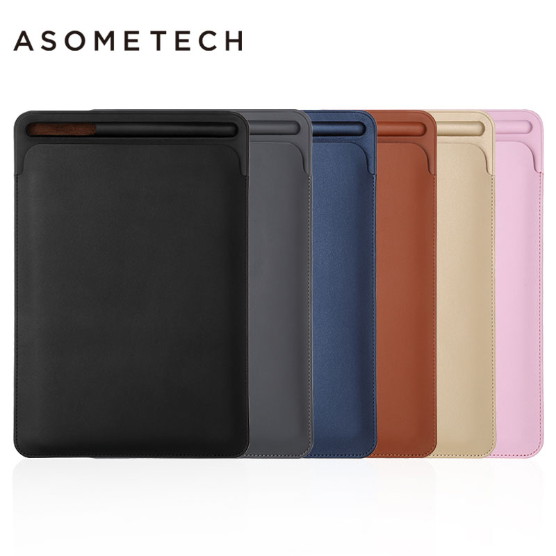 Premium PU leather Sleeve Pouch Bag For iPad Pro 12.9 inch Solid Case Cover with Pencil Slot for Apple iPad Pro 12.9 Bag housing for ipad pro 12 9 inch case sleeve esr protective carrying bag with back pocket pencil holder pouch for ipad pro 12 9 2015 2017