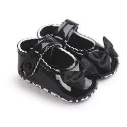 Осень-весна Детские для маленьких мальчиков мягкая подошва из искусственной кожи Обувь для малышей кроватки обувь с бантом 0-18 месяцев