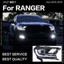 АКД Автомобиль Стайлинг для Ford фара дальнего света 2016-2017 Everest светодиодный фара H7 D2H Hid вариант Ангел глаз биксеноновые фары аксессуары
