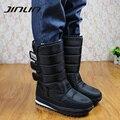 2016 Зимние ботинки мужчины теплые ботинки платформы ботинки снега мужчины сапоги толстые непромокаемые скольжению зимняя обувь 05