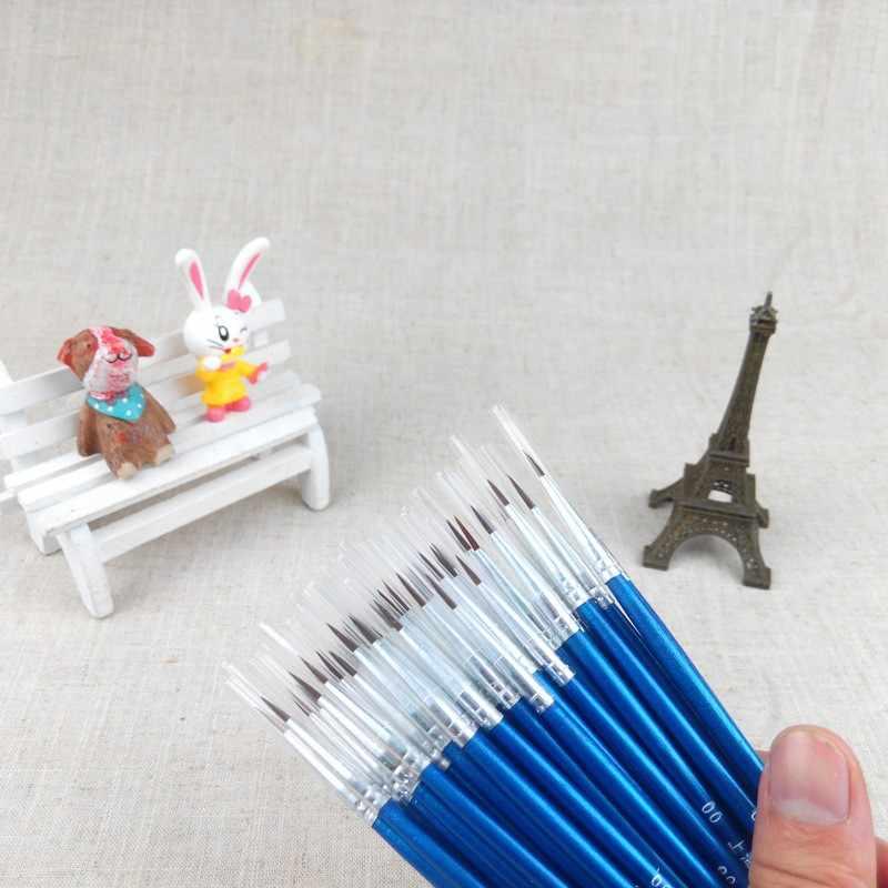 20 pcs/ensemble Fine Mince Crochet Ligne Nylon Stylo Peinture Brosse Dessin Art #0 #00 #000 Aquarelle Art fournitures Peinture