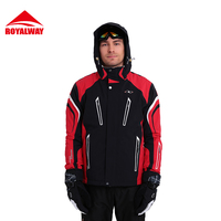 ROYALWAY Men Ski Jacket Skiing Clothes High Quality Windproof Breathable Waterproof Ski Jacket High Quality RFSM4497G
