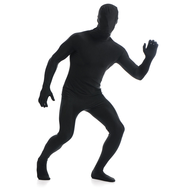 Ainclu 24 hours New Black Lycra Spandex Zentai Suit for Men Rush order/Same day shipping/24-hour ship-out service