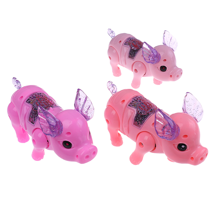DemüTigen Elektrische Leine Schwein Spielzeug Kinder Nette Spiel Schwein Spielzeug Kinder Schöne Elektrische Licht Schwein Spielzeug Für Kind Rheuma Lindern