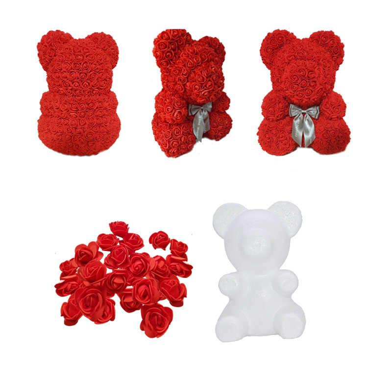 1Pcs di Modellazione Polistirolo Polistirolo Schiuma Bianca Orso Stampo Teddy per Regali di Giorno di San Valentino Festa di Compleanno Decorazione di Cerimonia Nuziale