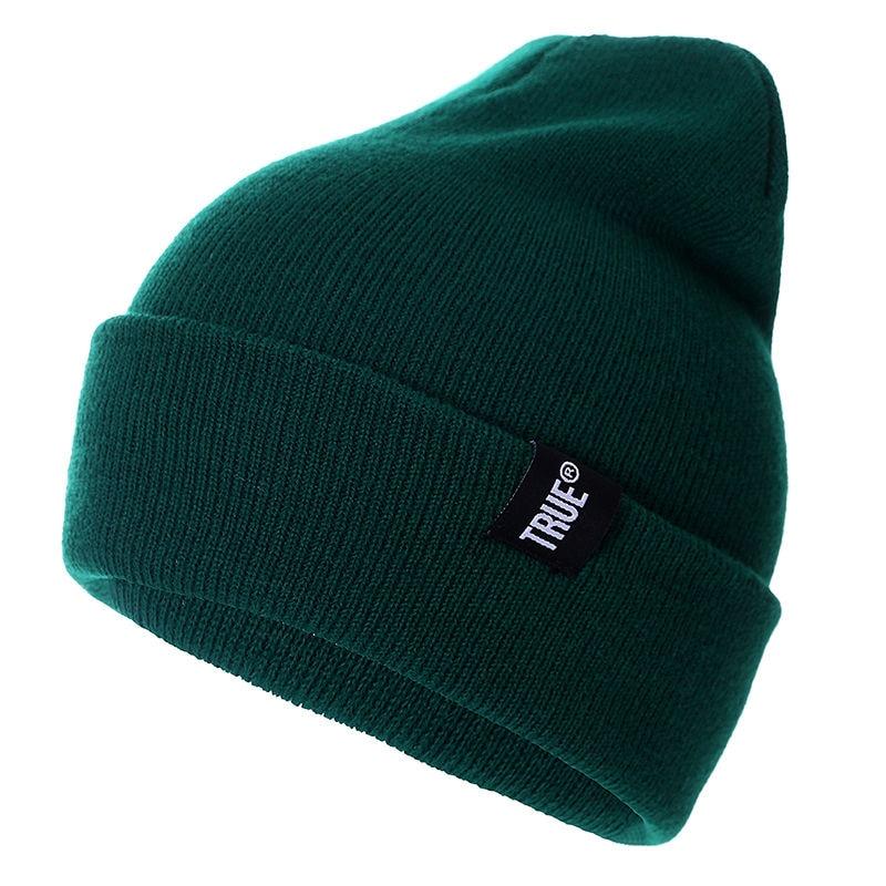 New 10 Colors Letter True Casual   Beanies   for Men Women Fashion Knitted Winter Hat Solid Hip-hop   Skullies   Hat Bonnet Unisex Cap
