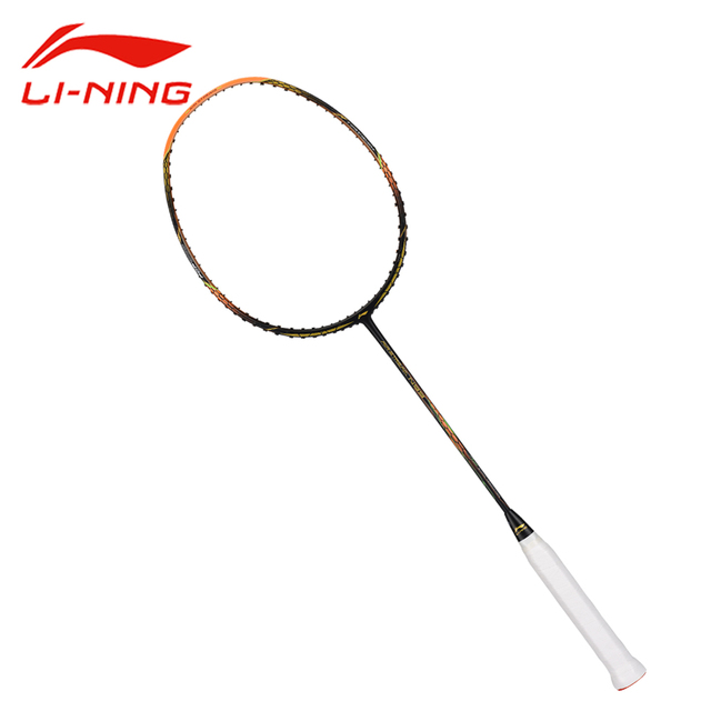 Li-Ning Air Stream N99 Badminton Racket Li Ning Professional Offensive Carbon Racket LiNing Black Gold Single Racket AYPM032