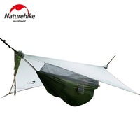 Naturehike New Only 1.5kg 1person Hammock with Bed Net Ultralight Hanging Tent Sleeping Tent Camping Bed DZ15D001 L