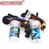 SKYJOYCE 55W H3C Xenon HID Bulb 3000K Yellow 35W Xenon H3C Bulb 4300K 5000K 6000K 8000K Ceramic Metal Base HID Replacement Bulb