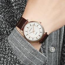 SANDA Super Slim Leather Mens Watches Top Brand Luxury Fashion Genuine Watch Men Business Clock relogio masculino P193