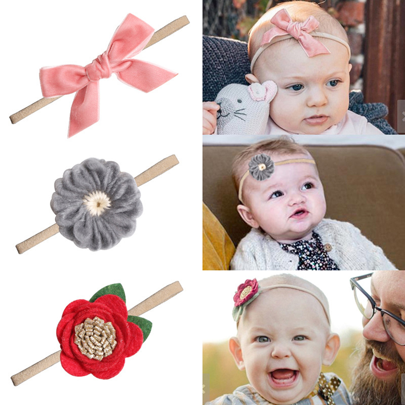 Cute Kids Girl Baby Toddler Bow Headband Hair Band Accessories Trendy Headwear
