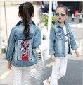 Yauamdb детские верхняя одежда 2016 Весна/Осень марка одежды мальчики Корейской версии ковбой одежда детская пальто Хлопка