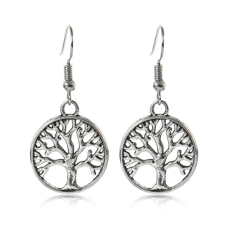 ef48619c5 MISANANRYNE Fashion Creative Design Life Tree Earrings Vintage Sliver Color  Alloy Drop Earrings Boho Jewelry For