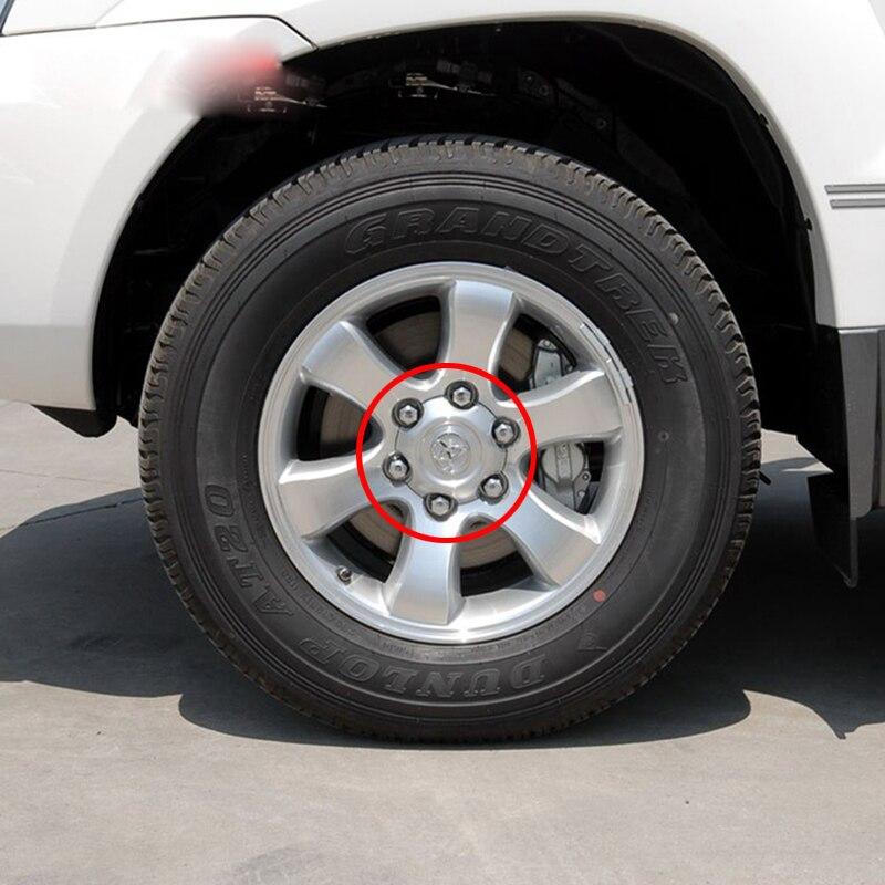4 Stücke 140mm 95mm Silber Volle Chrome Rad-mitte-naben-kappen Legierung radkappen Fit Für 2003-2013 Toyota Land Cruiser 4000 Prado 4.0L