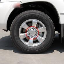 4ชิ้น140มิลลิเมตร95มิลลิเมตรเงินเต็มChromeศูนย์ล้อHub Capโลหะผสมถังพอดีสำหรับ2003-2013 Toyota Land Cruiser Prado 4000 4.0L