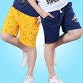 Crianças outwear meninos cor casuais calças curtas moda praia praia calças curtas crianças roupas de verão crianças outwear para 7-15 anos