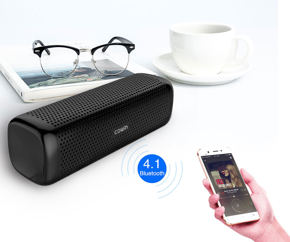 Cowin 6110 Mini Wireless Bluetooth 4.1 Portable Speaker With 16W Enhanced Bass And MP3 Player 4