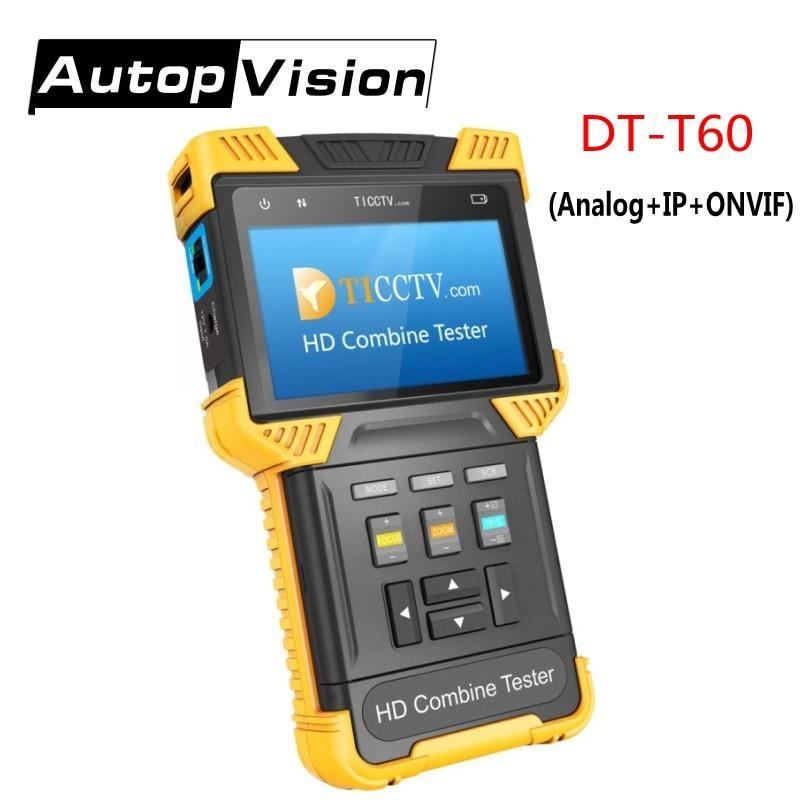 купить DT-T60 CCTV TESTER Monitor 1080P IP Analog Camera Tester 4.0 Inch HD Combine Tester ONVIF 2.4.1 RJ45 BNC 12V 1A Power Output онлайн
