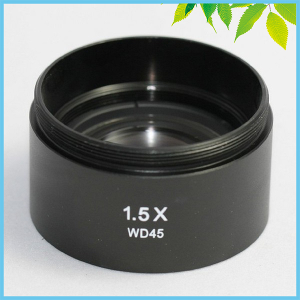 ФОТО Stereo Microscope 1.5X Auxiliary Objective Lens Barlow lens with 48mm Mounting Thread