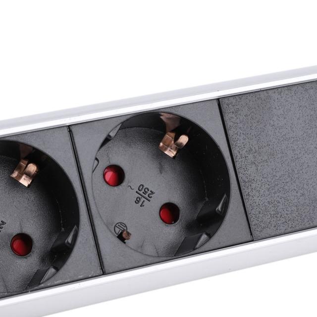 PULL POP UP Electrical 3/4 Plug Sockets 2 USB Outlet Power Socket Kitchen Desk Socket for Countertops Worktop ronde pop socket