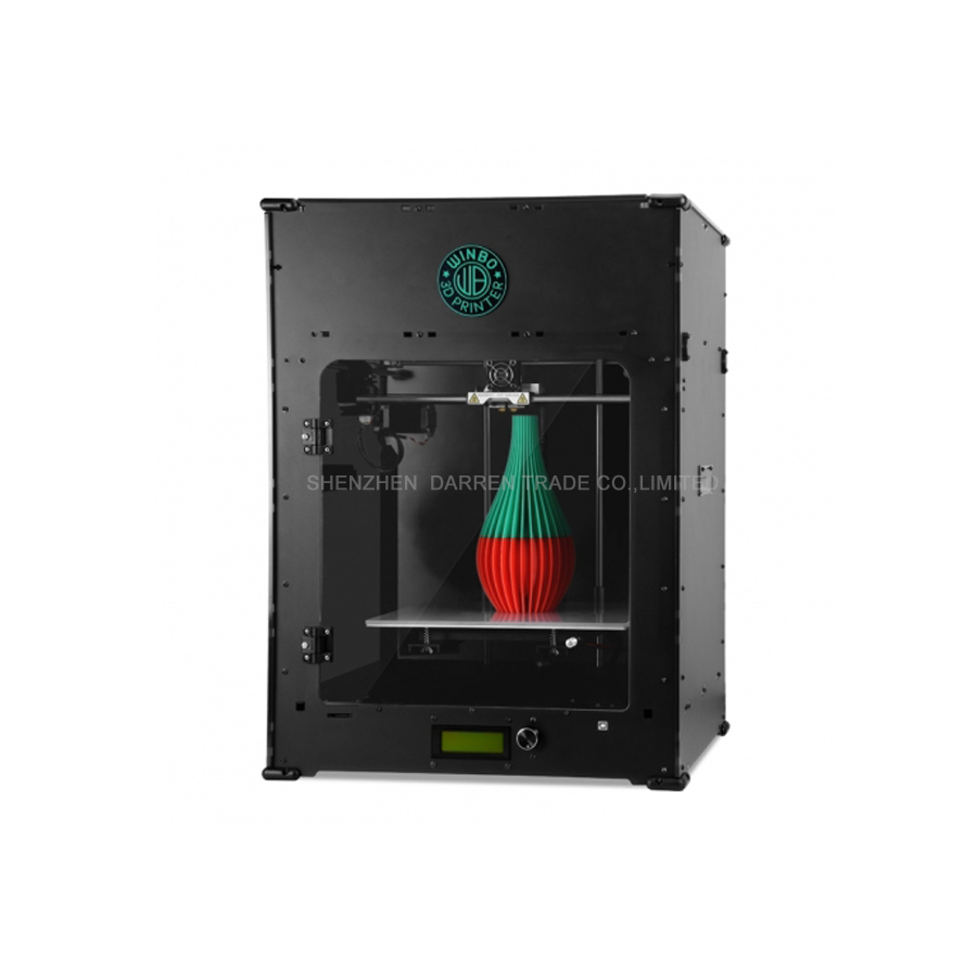 2017 printer mini 3d printer three dimensional USB port LAN port Pla ABS material LED screen