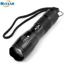 ZK59 Portátil LED Lanterna LED Torch Zoomable Lanterna 4000LM CREE E17 XM-L T6 LED 5 Modo de Luz Para 18650 3 ou 3xaaa Bateria