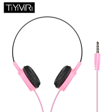 TiYiViRi New Wired Headphones with Mic Gaming Headset Music Earphones 3.5mm Foldable For Phones MP4 Computer PC fone de ouvido цена в Москве и Питере